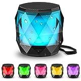 LED Bluetooth Speaker,LFS Night Light Wireless Speaker,Untra Mini Speaker,Diamond Shape Portable Wireless Bluetooth Speaker,M