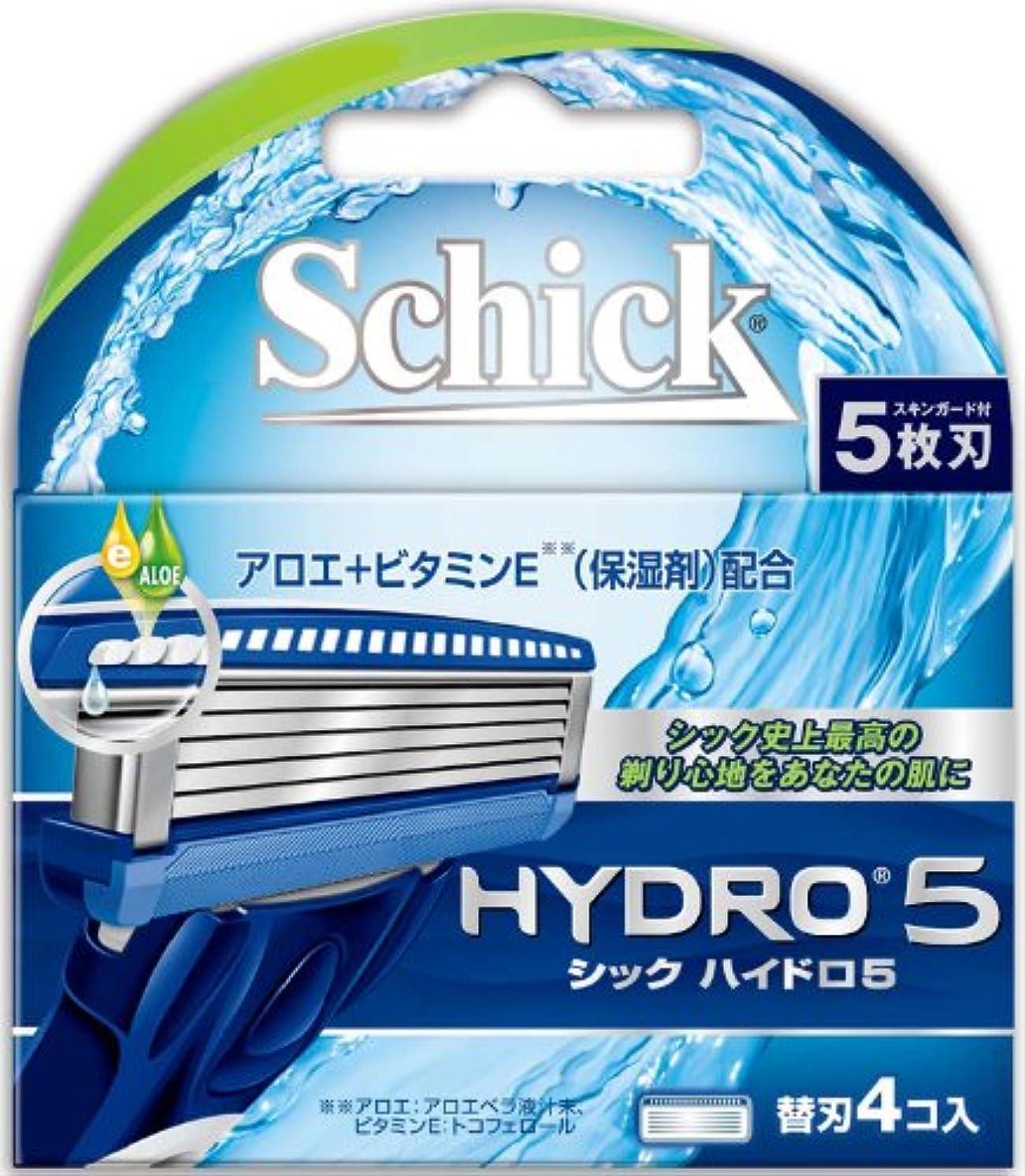 秋筋肉のシック ハイドロ5 替刃(4コ入)