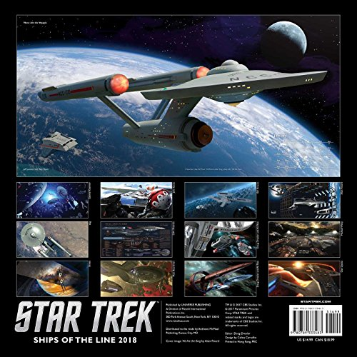 『Star Trek 2018 Wall Calendar: Ships of the Line』の1枚目の画像