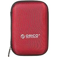 オリコ ORICO 2.5インチ HDD、SSD 収納ケース Samsung T5 SSD収納対応 ポータブルHDDケース 防震/防塵/防衝撃 5色 レッド PHD-25-RD