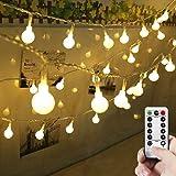 LEDGLE 50 LED Globe String Light Decorative LED Ball Fairy String Light Glittering Ball Starry String Light, 8 Lighting Modes