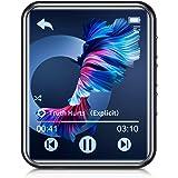 JOLIKE MP3プレーヤー Bluetooth 5.0 16GB内蔵 128GBまで拡張可能 フルタッチスクリーン スピーカー内臓 1.8インチ 合金製 超小型軽量 ポータブルオーディオプレーヤー 多機能音楽プレーヤー