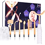 7 in 1 High Frequency Facial Machine, Portable Hand Held High Frequency Skin Therapy Machine with 7 Glass Tubes & Argon Wands