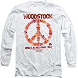 Popfunk Woodstock Peace Symbol Cream Longsleeve T Shirt & Stickers