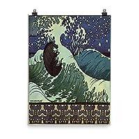 ヴィンテージポスター–Japanese Wave–プレミアム光沢フォト用紙ポスター 18x24