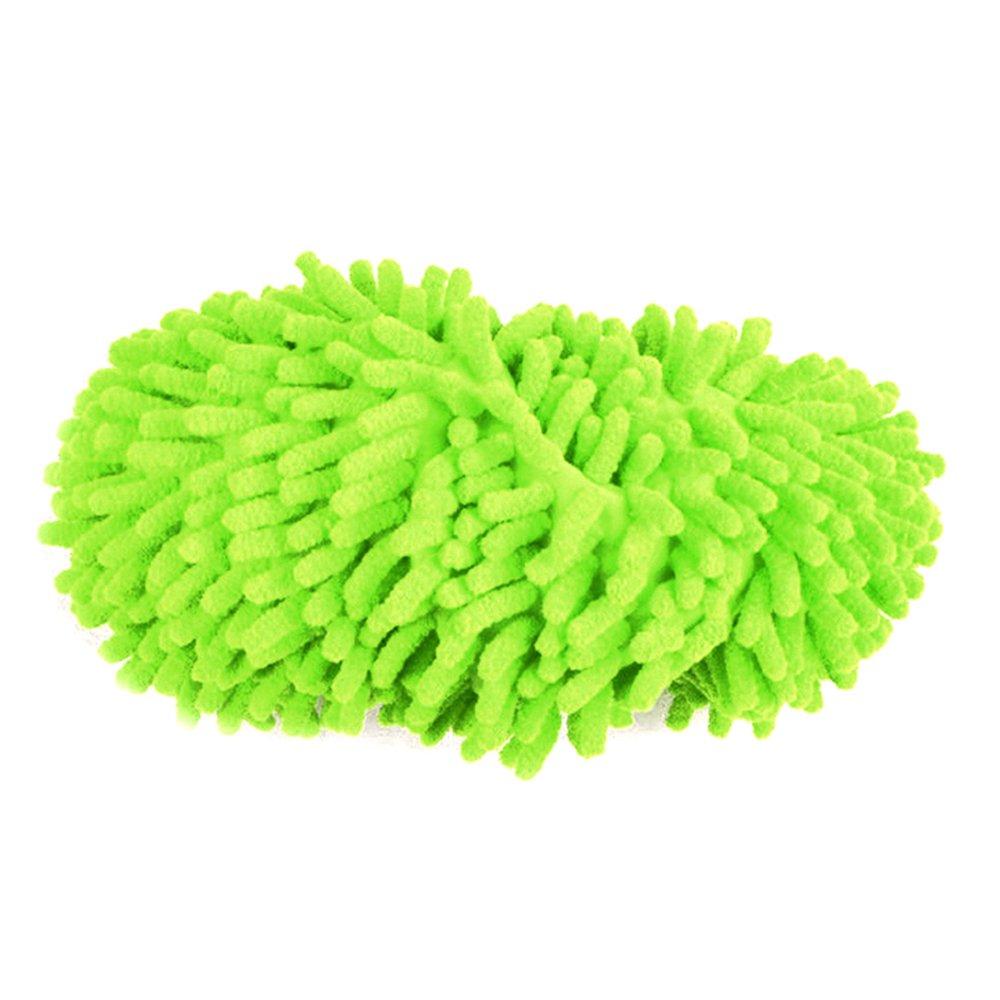 モップスリッパ靴 洗える モップ 簡単 床掃除 グリーン