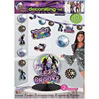 (One Size, Multi-colored) - Disco Party Decorating Kit 10pc