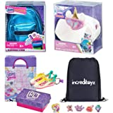 Increditoyz Real Littles Mini Backpack, Handbag and Sneakers 3-Pack Accessories Gift Bundle