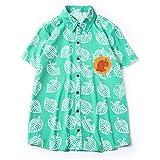 あつまれ どうぶつの森 あつ森 Tom Nook アライグマ シャツ 夏日 薄い 上着 ワイシャツ ブラウス かわいい 男女兼用