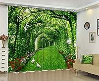 3Dデジタルステレオパーソナリティ子供のリビングルームの寝室のバルコニー出窓プリント遮光カーテン 140センチ幅×210センチ高(55インチ幅×82インチ高)