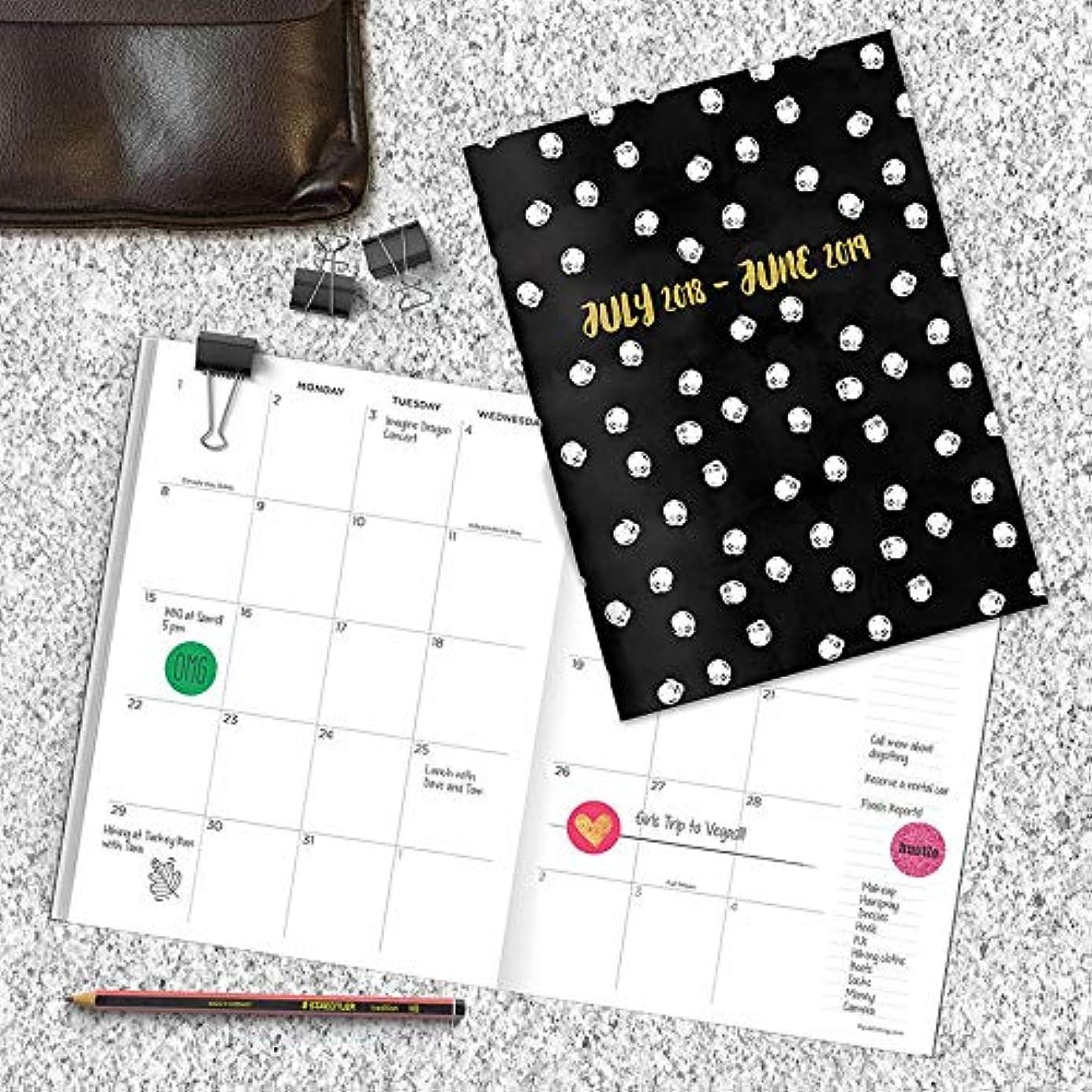 思いつくお客様エスニックTF Publishing 2018 – 2019 Academic BoundヴィンテージPolka Dot Monthly Plannerドット