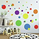 RoomMates Colourful Just Dots Primary Peel and Stick Wall Decal, Multicolour