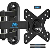 Mounting Dream Full Motion TV Monitor Wall Mount Bracket for 10-26 Inch LED, LCD Flat Screen TV and Monitors, Mount with Full