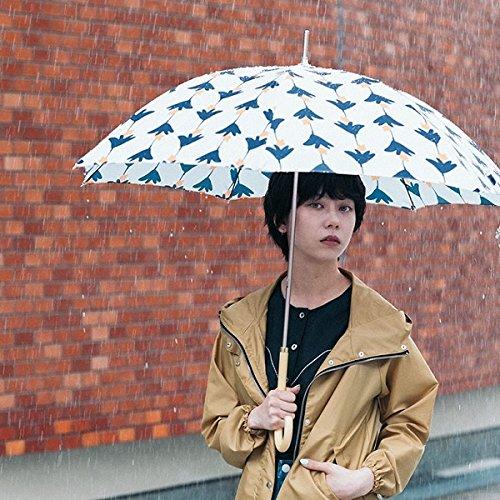 w.p.c(WPC) 【長傘】【軽くて丈夫で持ちやすい】ユリ (雨傘/レディース)【オフホワイト/58】