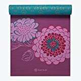 (ガイアム) Gaiam Print Premium Reversible Yoga Mat, 5mm (Kiku) [並行輸入品]
