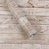 壁紙シール Harmn home 木目 壁紙 はがせる カッティングシート ふすま紙 アンティークブラウン 45cm X 10m 90日保証