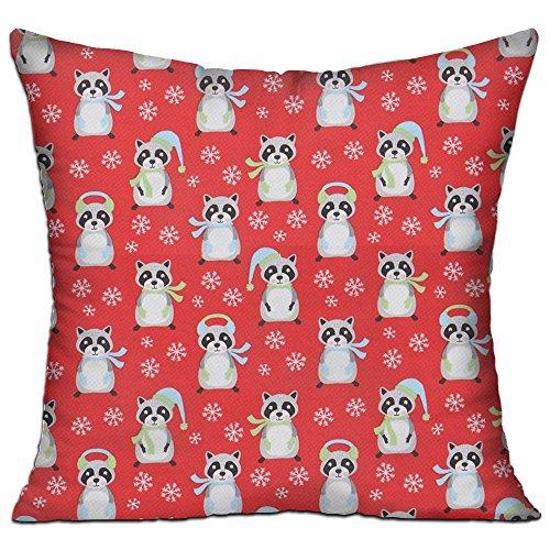 ラクーン クリスマス 高品質 低反発 座布団 クッション 椅子用 かわいい オシャレ 寝具 中袋 中身:綿
