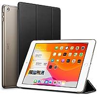 ESR iPad 10.2 ケース 第7世代 2019モデル クリア 薄型 軽量 傷防止 オートスリープ/ウェイク 三つ折りスタンド スマートケース Apple iPad 10.2インチ 第7世代 2019用ハードカバー(ブラック)