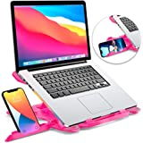 Laptop Stand for desk, Adjustable Computer Stand for All Laptops and MacBook Pro, Air 13 15 17 inches, Portable Laptop Riser