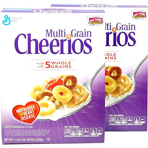 Cheerios チェリオス マルチグレインシリアル (5種類のグレイン入り) 2箱 [並行輸入品]