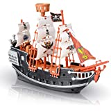ArtCreativity 10 Inch Pirate Boat - Detailed Pirate Ship Playset - Fun Pirate Party Favor and Prize - Excellent  Kids Ages 5+