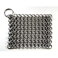Chain Mail Scrubber for Cast Iron Cookware By Nauticalmart