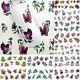 Amazon.co.jpIthern(TM)爪の装飾マニキュアツールの美しさの花BRID設計のための12枚混合スタイルの水の転送ネイルアートステッカーデカール
