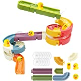 Bath Toys Water Balls Tracks for Kids for Wall Bathtub Toy Slide for Toddlers 3 4 5 6 Years 37 Pcs DIY Take Apart Set Shower