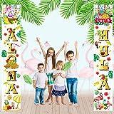 Luna Party Supply ハワイアン アロハ パーティー デコレーション Let's Hula ポーチサイン ゴールド アロハ バナー アロハ バナー ハンギングデコレーション