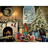 Bits and Pieces - 1000 Piece Glow in the Dark Puzzle - Not a Creature was Stiring Christmas Eve Holiday - by Artist Nicky Boehme - 1000 pc Jigsaw by Bits and Pieces 【You&Me】 [並行輸入品]