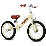 """JOYSTAR 16"""" Balance Bike for Big Kids 5, 6, 7, 8 and 9 Years Old with Rubber Tire and Front Caliper Brake and Adjustable seat"""
