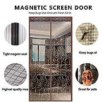 断熱 網戸 マグネット式, カーテン バグと蚊を維持します。 磁 ドアカーテン 自動に近い-A 110*210cm