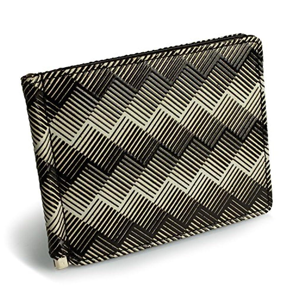 かんたんアシスタント接続された[イスルジャポン] ISURU JAPON 札ばさみ マネークリップ 二つ折り財布 メンズ 小銭入れなし スリム 軽い 軽量 本革 日本製 漆 立体的 幾何学模様