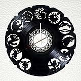 大型 装飾的 手作り ビニール レコード 壁掛け 時計 - ユニークなベッドルームの壁の飾りを得ます - 大人と若者のためのギフトのアイデア - 映画 ロゴ ユニークなアート デザイン