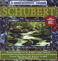 Schubert: Trout Quintet & Piano Trio No 1/Var by SCHNABEL / PRO ARTE QUARTET (2004-06-04)