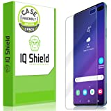 IQ Shield Screen Protector Compatible with Galaxy S10 Plus (S10+ 6.4 inch)(2-Pack)(Case Friendly) Anti-Bubble Clear Film (NOT