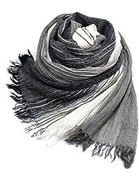 大判ストール コットン 楊柳 ビスコース ストライプ ガーゼ シワ感 洗い晒し 紫外線対策 男女兼用