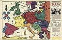 Richfield Reporter :戦争マップ 1939 Historicアンティークヴィンテージマップ再印刷 24in x 16in 551596_2416