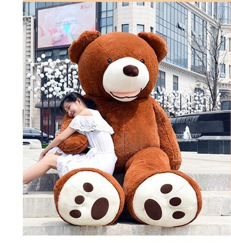 HYAKURIぬいぐるみ 特大 くま/テディベア 可愛い熊 動物 大きい/巨大 くまぬいぐるみ/熊縫い包み/クマ抱き枕/お祝い/ふわふわぬいぐるみ (100cm, ダークブラウン)