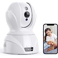 【2021バージョンアップ400万画素】COOAU ネットワークカメラ 4MP高画素 ペット老人見守りカメラ WiFi強…