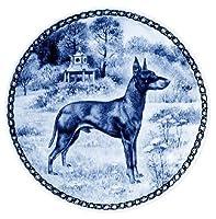 デンマーク製 ドッグ・プレート (犬の絵皿) 直輸入! Manchester Terrier - Standard / マンチェスター・テリア - スタンダード