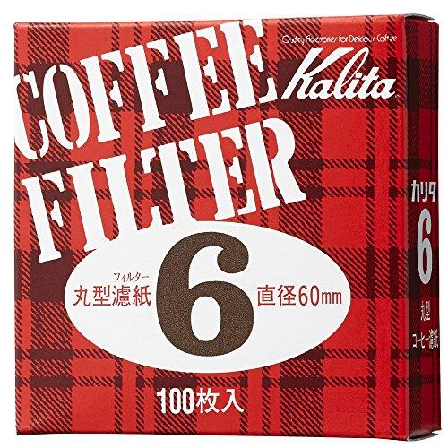 カリタ コーヒーフィルター モカエキスプレス用 #6 丸形濾紙 60mm 100枚入り #21007