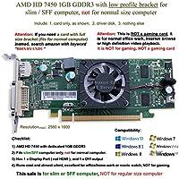 AMD Radeon HD 74501GB / 1024MBロープロファイルグラフィックスカードFitsスリム/ SFFサイズコンピュータ