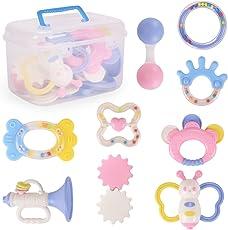 NextX ガラガラ ラトル 歯固め なめかみ ベビー・赤ちゃんのおもちゃ 出産お祝い