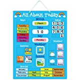 5K Education All About Today Weather & Calendar Magnetic Board - Blue