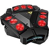 BETOPPER ステージライト 舞台照明 LED スパイダー ムービングヘッド RGBW 9*10W DMX512 ムービングライト ディスコライト スポットライト ストロボ効果 照明ライト LED照明 回転 音声起動 照明/演出/舞台/ディスコ/