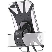 Bovon 自転車 スマホホルダー 360°回転可能 シリコン バイク スマホホルダー 振り止め 脱落防止 設置簡単 携…