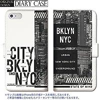 301-sanmaruichi- Galaxy S7 edge ケース Galaxy S7 edge カバー ギャラクシー S7 edge ケース 手帳型 おしゃれ ニューヨーク ブルックリン NYC メンズ かっこいい ロゴ B 手帳ケース SUMSUNG