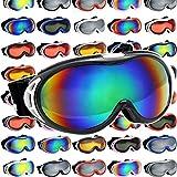 DABADA(ダバダ) ゴーグル スノーゴーグル 全36種類 フレームタイプ 男女兼用 ダブルレンズ メガネ使用可能 専用ハードケース付 くもり止め加工 UVカット