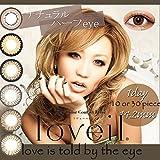 【loveil】1Day 10枚入り 【カラー】ブラウンミラージュ【PWR】-2.00 ccs